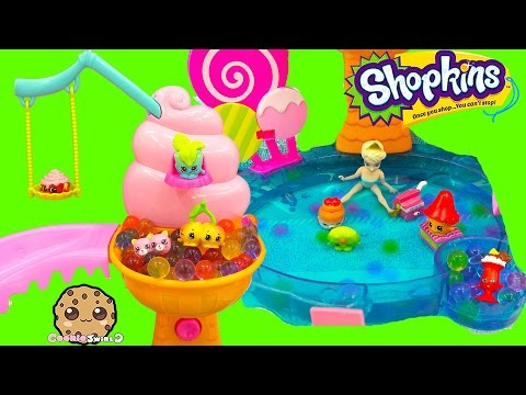 Shopkins Season 4 12 Pack Unboxing With Petkins At Queen Elsa Orbeez Pool Party - Cookieswirlc