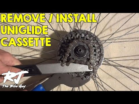 How To Remove Install Shimano Uniglide Cassette Youtube