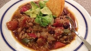 Vegan Chili With Black-eyed Peas, Black Beans And Quinoa - Healthconsciousmeals