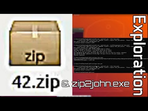 Internet Exploration: 42 zip & zip2john exe (+Me Going Into