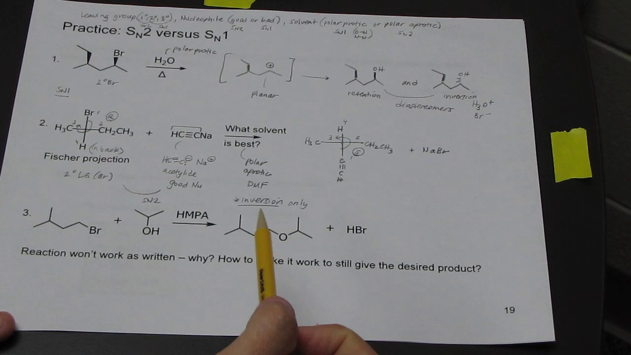 inverted lecture problem solving in organic chemistry on inverted lecture 3 problem solving in organic chemistry on substitution mechanism