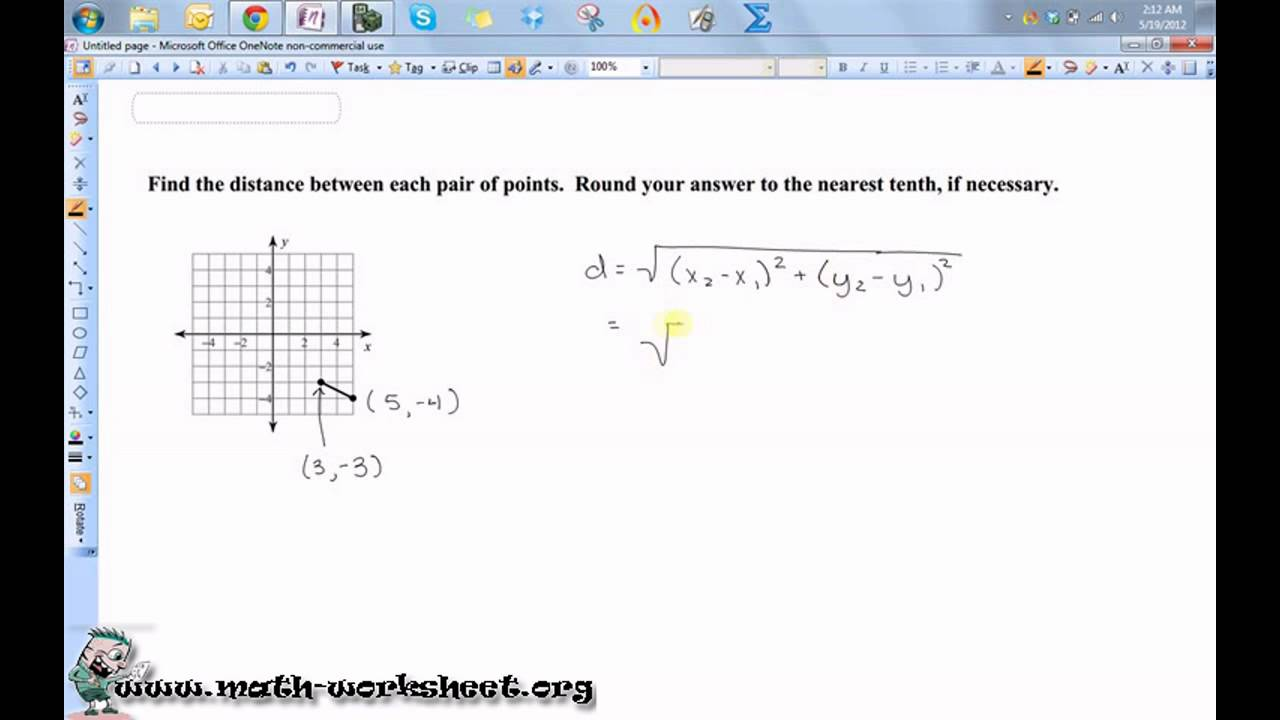 Geometry Parallel Lines and the Coordinate Plane The Distance – Distance Formula Worksheets