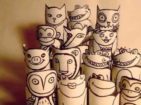 Toilet Paper Roll Crafts Animals Beautiful Handmade Set Of Diy