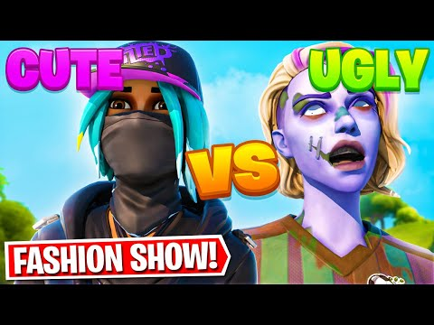 *CUTE vs UGLY* Fortnite Fashion Show Battle! Skin Wars Competition! | BEST DRIP TEAM WINS!