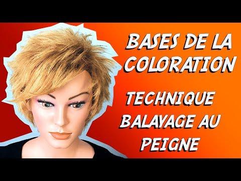 Fabuleux BALAYAGE AU PEIGNE - INITIATION - YouTube XX21