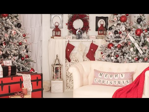 2019 CHRISTMAS LIVING ROOM TOUR + DIY BACKDROP