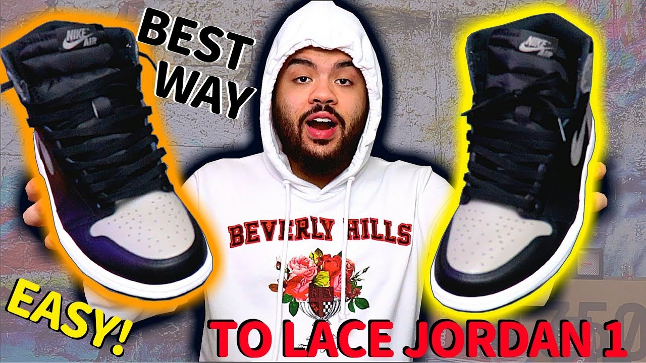 b07a9b5f7563 HOW TO LACE JORDAN 1s  EASY TUTORIAL  BEST WAYS TO LOOSE LACE + ON FOOT