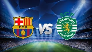 Barcelona Vs Sporting Lisbon, Champions League Group Stage, 2017 - Line-Up Reaction