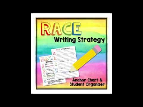 Race Writing Strategy Anchor Chart Student Organizer