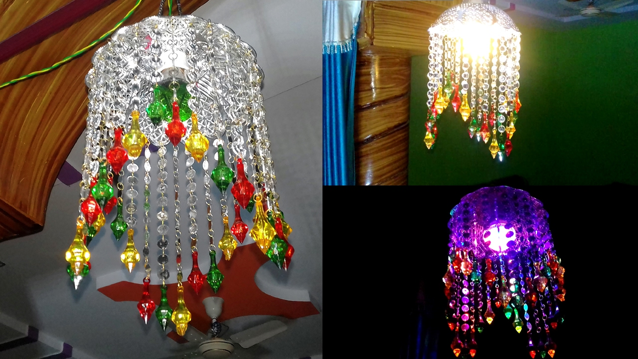 How To Make Lights Hanging Decoration | Door/Wall Hanging Decoration ...