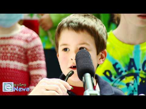 Salt Lake City School Children Speak Out in Protest of Air Pollution at the State Capitol