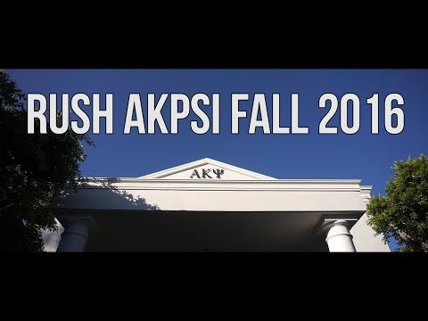 AKPsi Fall 2016 Rush Video