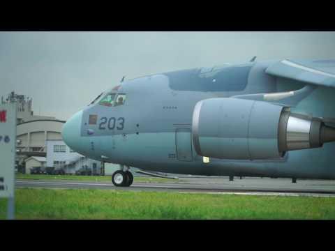C-1FTBとC-2の離陸 2016/10/13