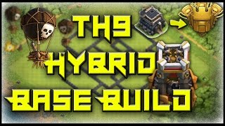 Best TH9 Hybrid Base Build Of 2017 With Bomb Tower // Town Hall 9 // Clash Of Clans