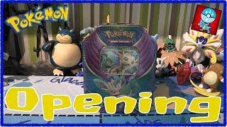 Pokemon TCG: Pokemon Tins: Evolutions Celebration: Leafeon GX Tin Opening