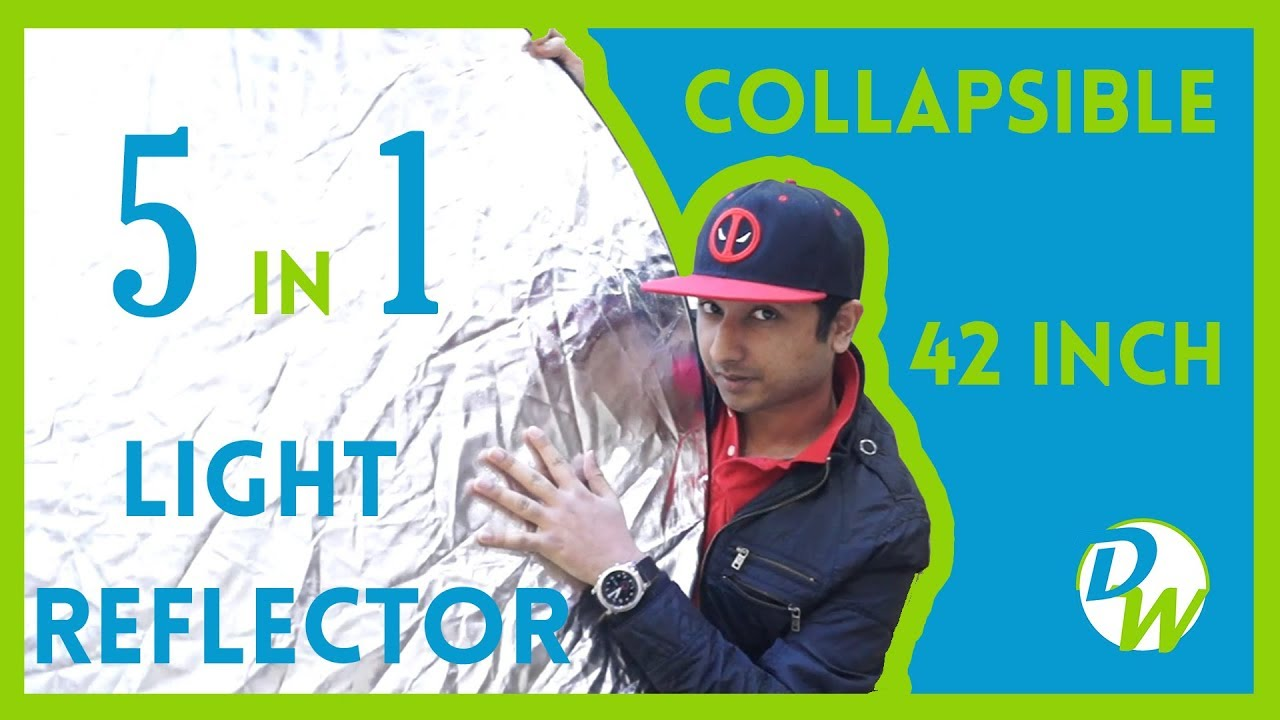 Collapsible 5-in-1 multi-disc light reflector | how to use.