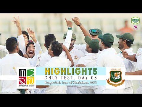 Zimbabwe vs Bangladesh Highlights || Only Test || Day 5 || Bangladesh tour of Zimbabwe 2021