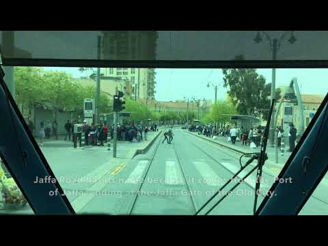 Jerusalem Light Rail (Red Line): Annotated Timelapse