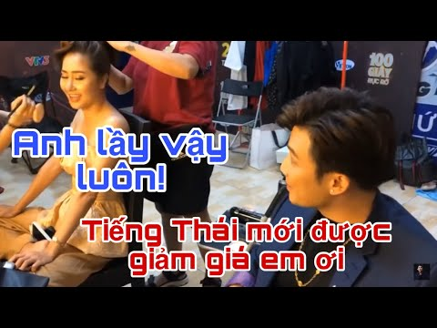 học tiếng thái ở đâu uy tín - Chí Thiện tập nói tiếng Thái cho diễn viên Tường Vy sau hậu trường, thánh trả giá đây rồi!
