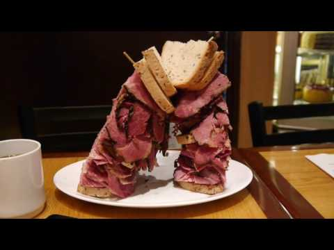 ニューヨーク / カーネギーデリのビーフパストラミサンドイッチ