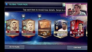 FIFA Mobile BACK to BACK TOURIST PULLS!!! NEW OP STRIKER PACKED!?! | FIFA Mobile iOS / Android | BGS