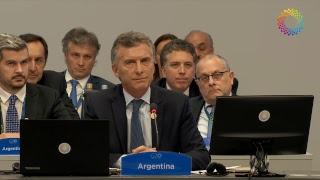 El presidente Mauricio Macri encabezó la apertura de la Cumbre del G20