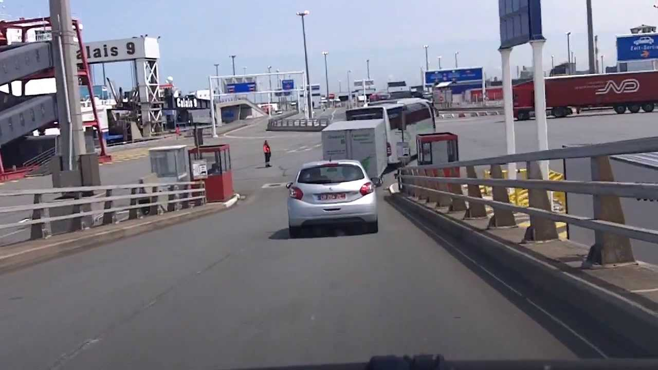 Calais ferry port from ferry to motorway youtube for Max garage calais