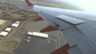 Southwest Airlines B737-7H4 Departure From Sacramento