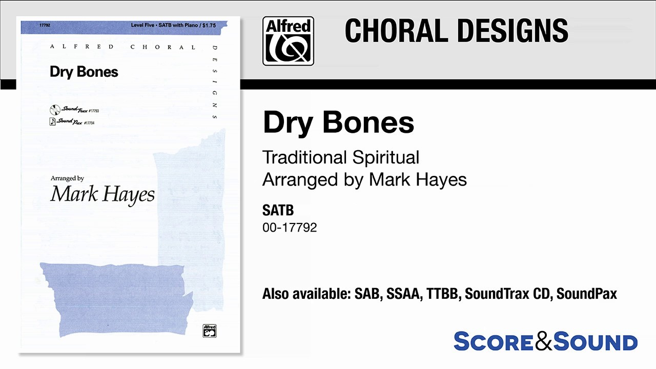 Mixed voices ALFRED DRY BONES//TTBB 19223
