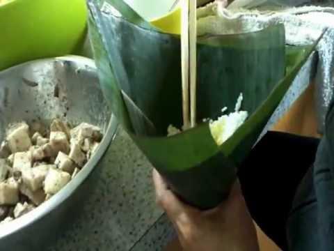 How to wrap vietnamese rice cake(banh u)