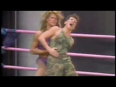 GLOW Gorgeous Ladies of Wrestling Tina Ferrari vs Attache