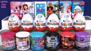 Chocolate Surprise Eggs Kinder Happos Minnie Mouse Peppa Pig PJ Masks Opening Toys Egg Sorpresa