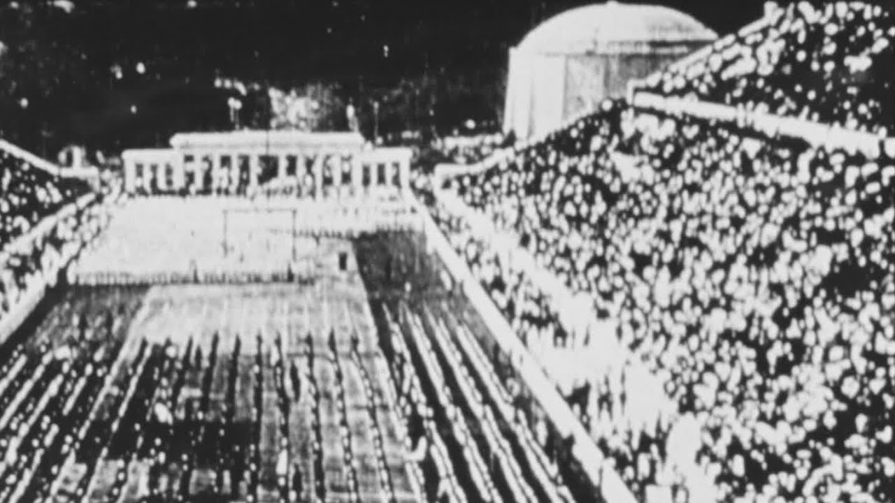 Very early film of The Olympic...