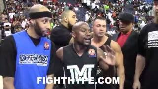 FLOYD MAYWEATHER VS. ADRIEN BRONER HEAD-TO-HEAD ON THE BASKETBALL COURT POST-CALLOUT