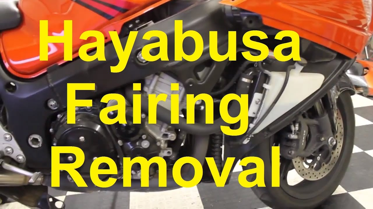 hight resolution of how to remove hayabusa fairings