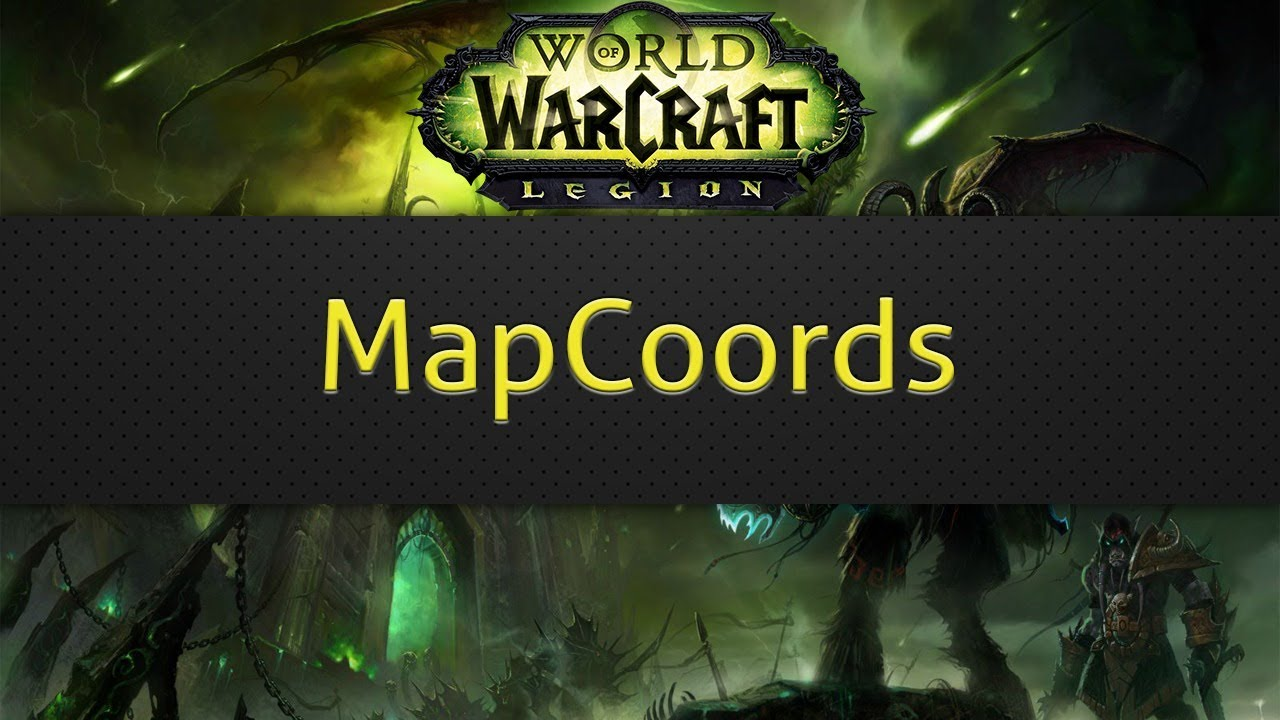 Mapcoords Wow Addon Youtube