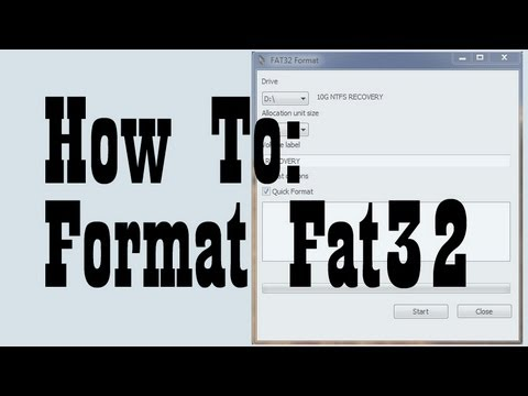 Formatting a Hard Drive into the Fat32 File System