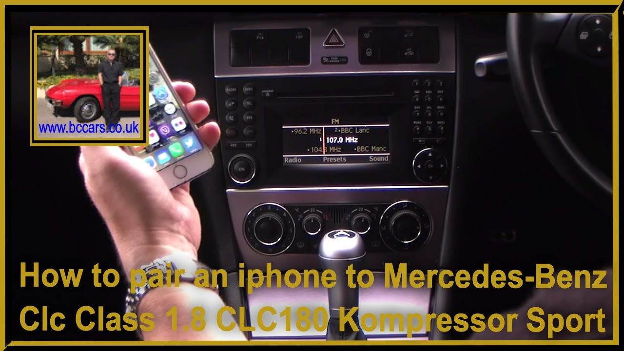 How to pair an iphone to mercedes benz clc class 1 8 for Mercedes benz com connect