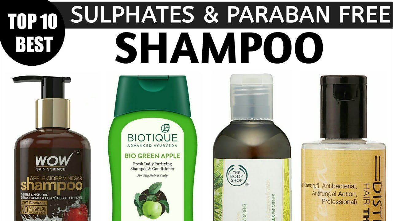 best sls and paraben free shampoo in india