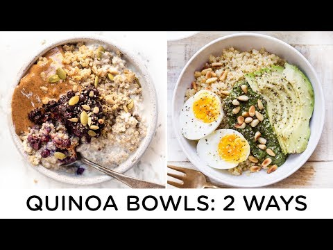 QUINOA BREAKFAST BOWLS ‣‣ 2 make-ahead recipes