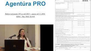 Ing. Jana Acsová- Daňové priznanie FO za rok 2015-ukážka