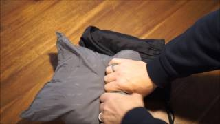 alps mountaineering microfiber camping travel pillow unbagging