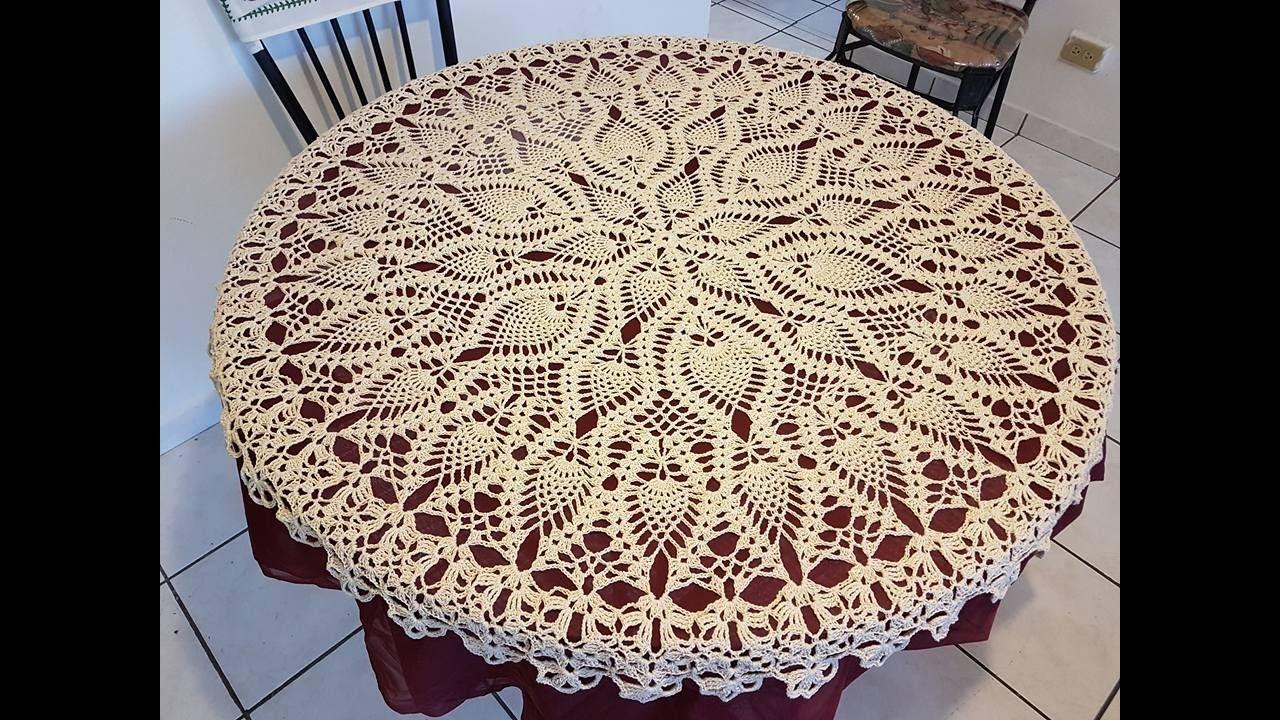 Como tejer mantel a crochet paso a paso parte 26  YouTube