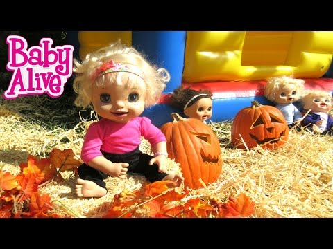 BABY ALIVE Babies Go To Pumpkin Patch!