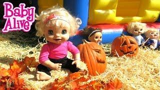 BABY ALIVE Babies Go To Pumpkin Patch!