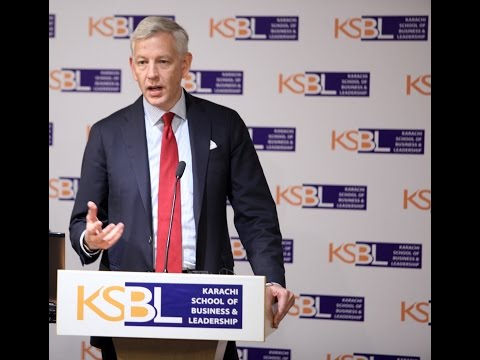 Dominic Barton of McKinsey speaks at KSBL Karachi