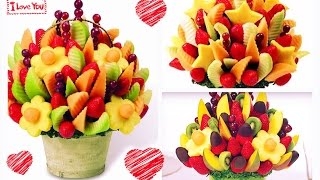 DIY: Arreglo de frutas con CHOCOLATE! Edible Arrangements