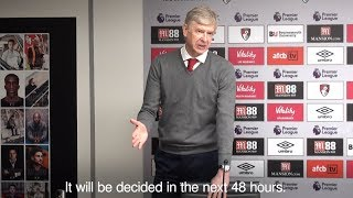 Arsene Wenger - Sanchez Was 'On Standby' But Didn't Refuse To Play