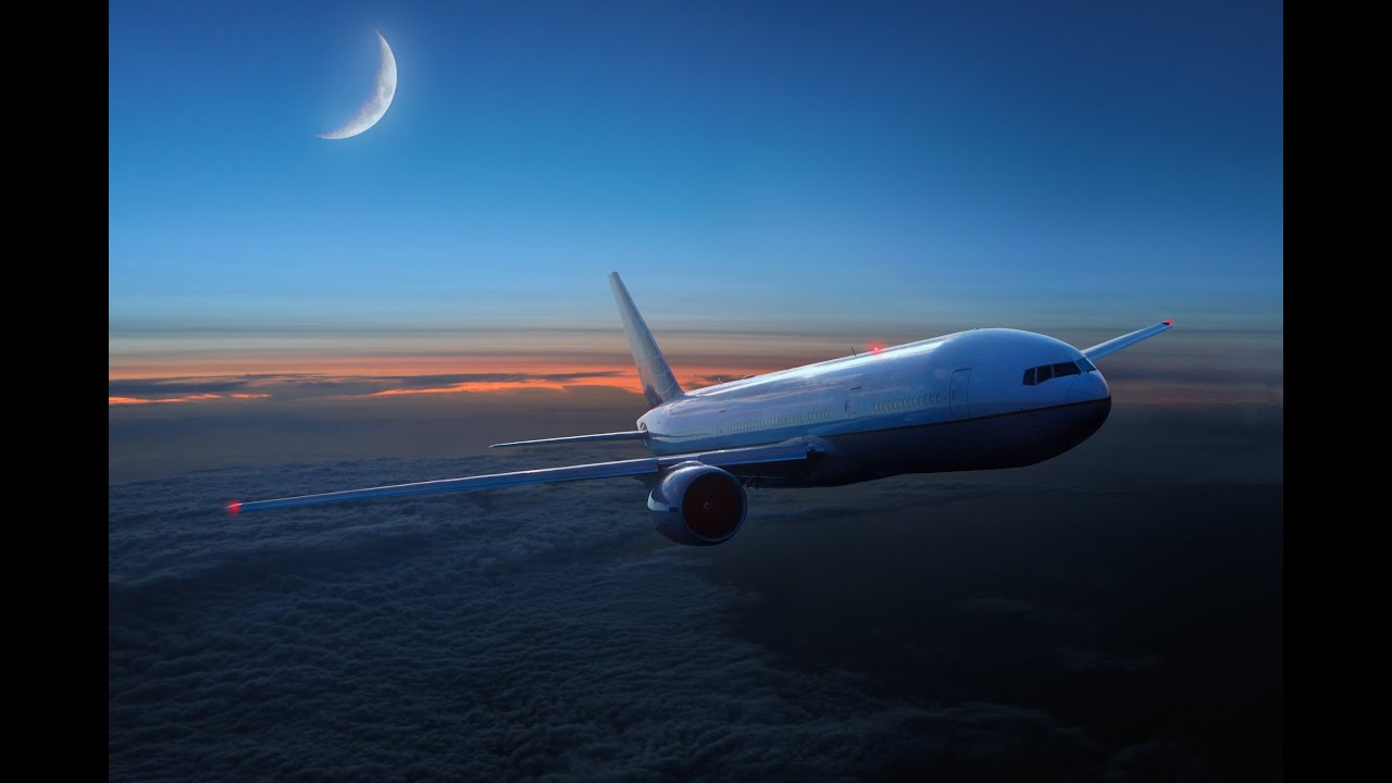 ASMR - Airplane In The Sky (White Noise, Ambient Sound ...