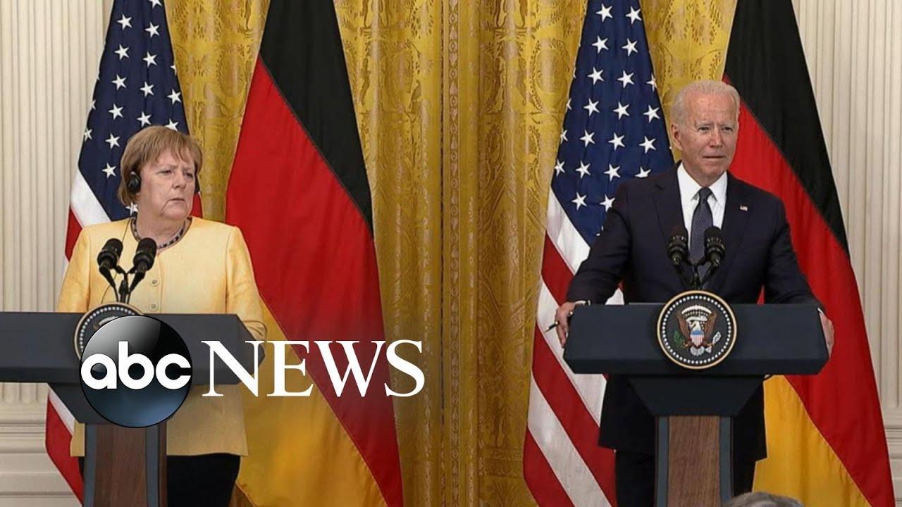 President Biden meets with German Chancellor Angela Merkel as ...